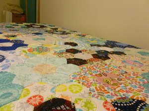 the hexagon quilt I was working on